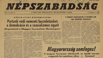 60 éve, egy igazi forradalmi számmal indult el a Népszabadság