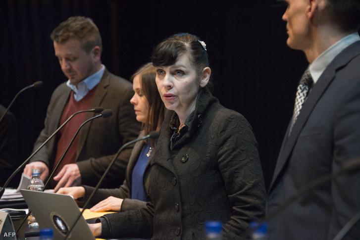 Birgitta Jónsdóttir egy október 24-i vitaesten
