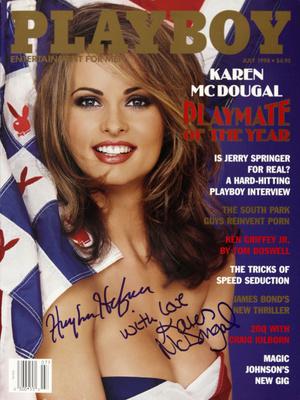 Karen McDougal a Playboy 1998-as júliusi számában