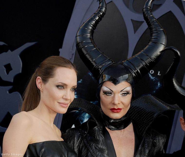 Angelina Jolie a Demona 2014-es premierjén.