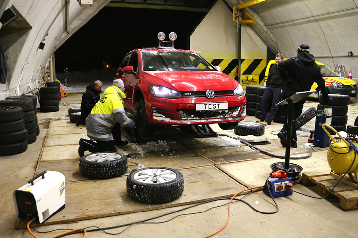 technik winterreifentest-golf