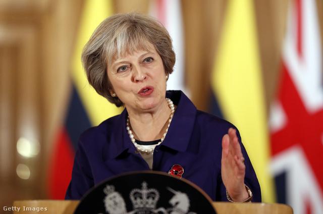 Theresa May, az  Egyesült Királyság miniszterelnöke.