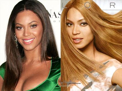 A L'Oreal Beyoncét fehérítette ki