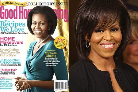 A Good Housekeeping címlapján világosabb a First Lady bőrszíne