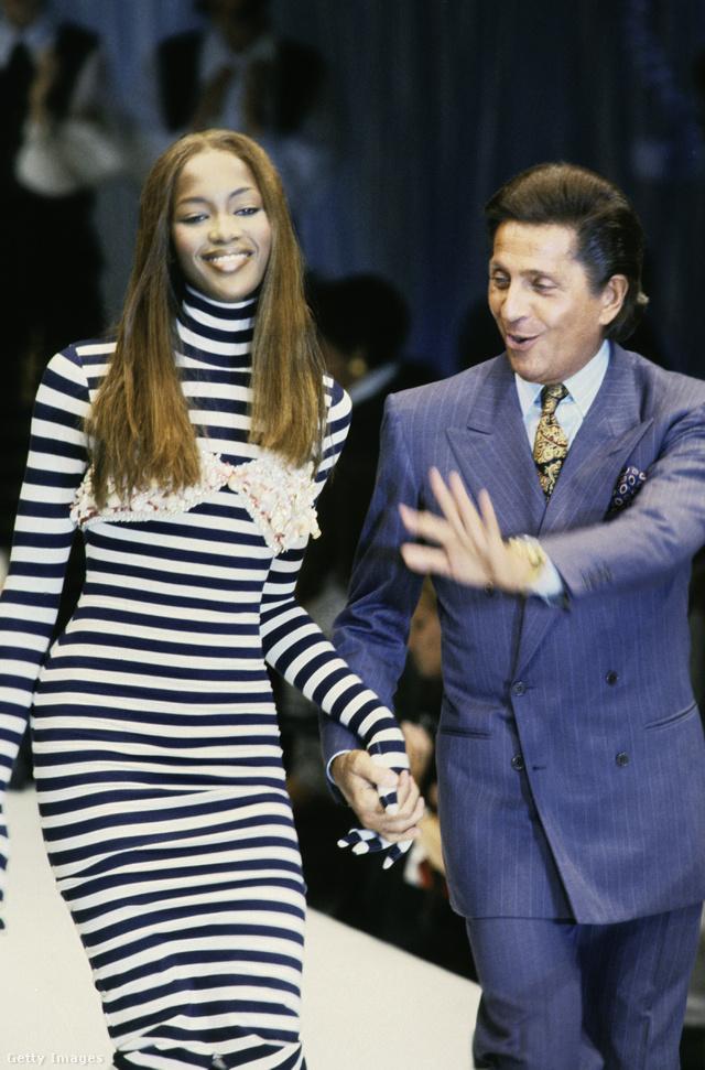 Valentino és Naomi Campbell a 90-es években.