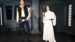 Carrie Fisher és Harrison Ford jártak az első Star Wars film forgatása alatt