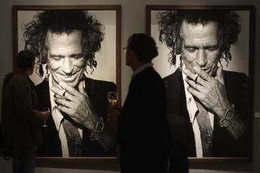 Egy korábbi berlini kiállítás egyik fotója Keith Richardsról.