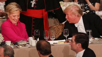Trump mégsem perli be Clintont