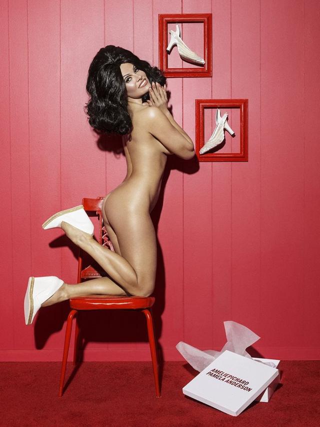 Pucér modellel reklámozta cipőit az Amélie Pichard.