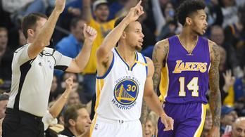 Megőrült az NBA: Curryék 149 pontot dobtak, Jamesék 137-et