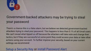 Államilag támogatott hekkerek próbálják ellopni Google-fiókját