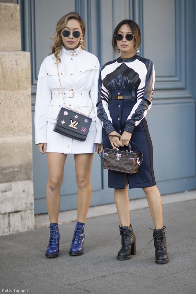 Dani és Aimee Song  is Louis Vuitton táskát lóbáltak Párizs utcáin.