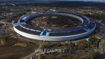 Megleste egy drón, hogyan épül az Apple gigantikus új központja