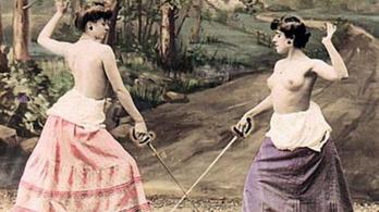 Női párbaj a lemeztelenedésig