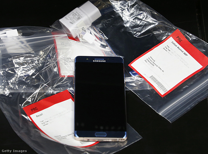 Egy a sokmillió visszahívott Note 7-es telefon közül