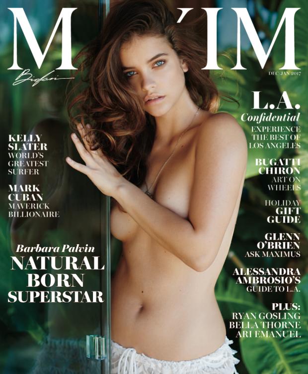 Egy szál bugyiban pózolt a Maxim magazin elején.