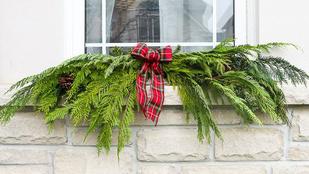 Karácsonyi ablakdekor kosz és ragacs nélkül