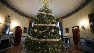 Így díszítették fel karácsonyra Fehér Házat