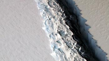 Egy Pest megye nagyságú jégtömb szakadhat le az Antarktiszról