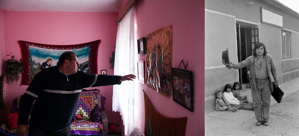 A telep egyik lakója 2016-ban és a hetvenes évek második felében | Fotó: Magócsi Márton // Révész Tamás