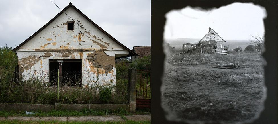 Elhagyott házak 2016-ban és a hetvenes évek második felében | Fotó: Magócsi Márton // Révész Tamás
