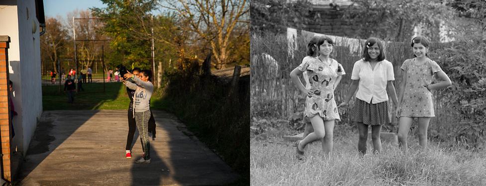 Fiatal lányok 2016-ban és a hetvenes évek második felében | Fotó: Magócsi Márton // Révész Tamás
