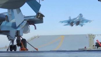 Megint gépet vesztett az oroszok egyetlen repülőgép-hordozója