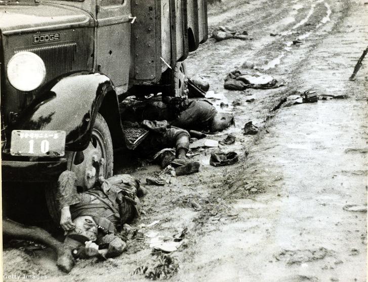 Japánok által agyonlőtt kínai katona Mandzsúriában, 1937-ben.