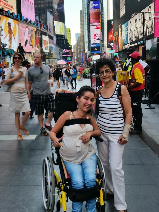 Tóth Tímea a Times Square-en