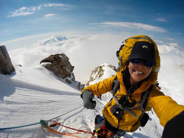 Németh Alexandra csúcshódítás közben