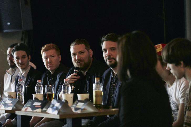 Balról Járai Márk, Marsalkó Dávid, a főszervező Gellai Gergő, és Felcser Máté a Punnanyból