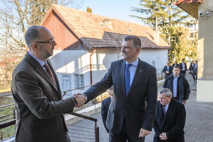 Kelemen Hunor és Kövér László Kolozsvárott 2016. novemberében.