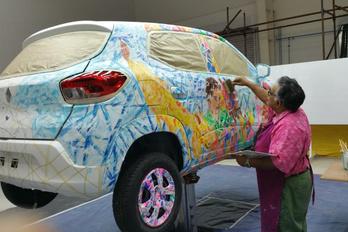Műalkotásként látható Európában először a Renault Kwid