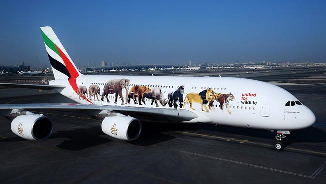 A veszélyeztetett állatfajokat festette gépeire az Emirates