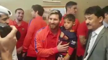 Messi találkozott a szatyormezes Messivel