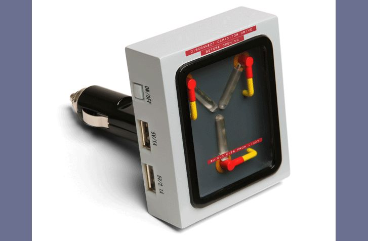 1dbd flux capacitor car charger.gif