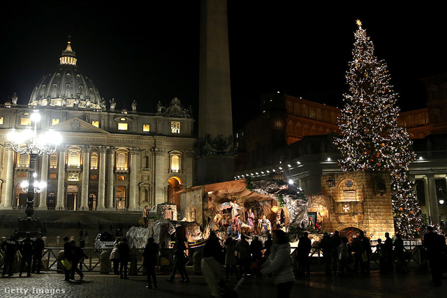 A Vatikán karácsonyfája