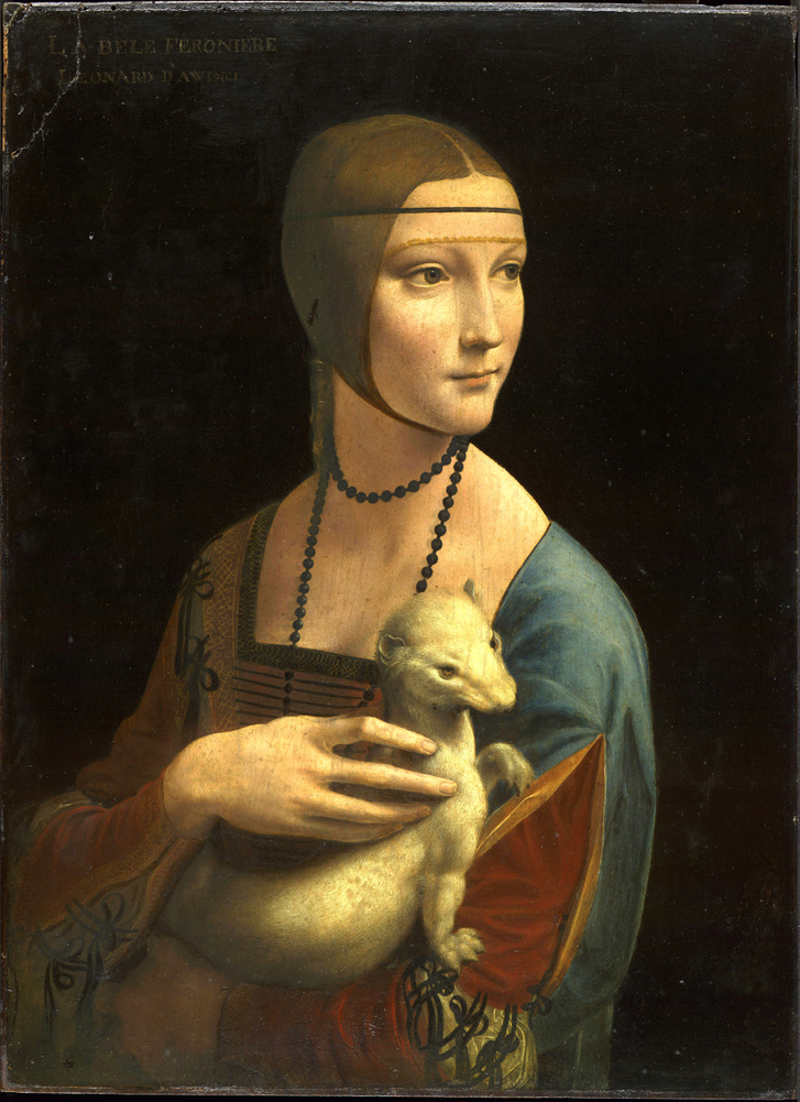 Leonardo da Vinci (1452-1519): Hölgy hermelinnel