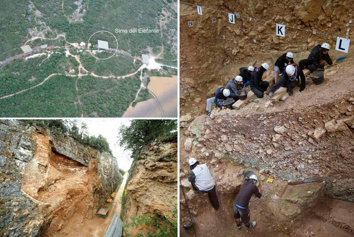 A Sima del Elefante ásatási helyszín