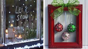 7 karácsonyi dekor, amit egy perc alatt elkészíthet!
