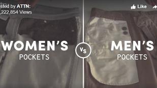 Tényleg, miért nincs a női nadrágokon rendes zseb?