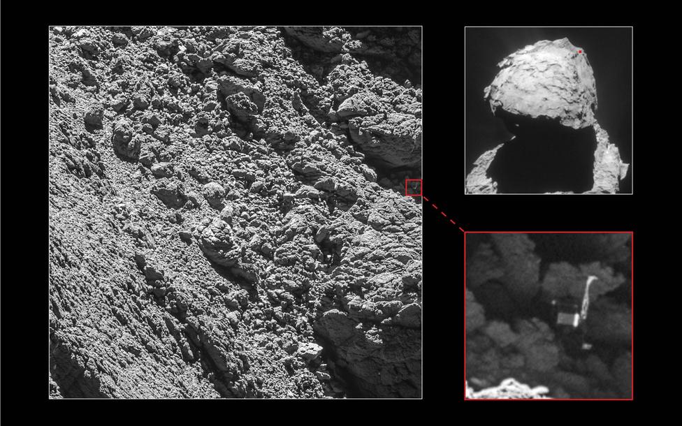 Szeptember 2. Pár héttel az Európai Űrügynökség Rosetta küldetésének vége előtt megtalálták egy fotón a Csurjumov-Geraszimenkó üstökös felszínére nem túl szerencsésen érkezett Philae leszállóegységet.