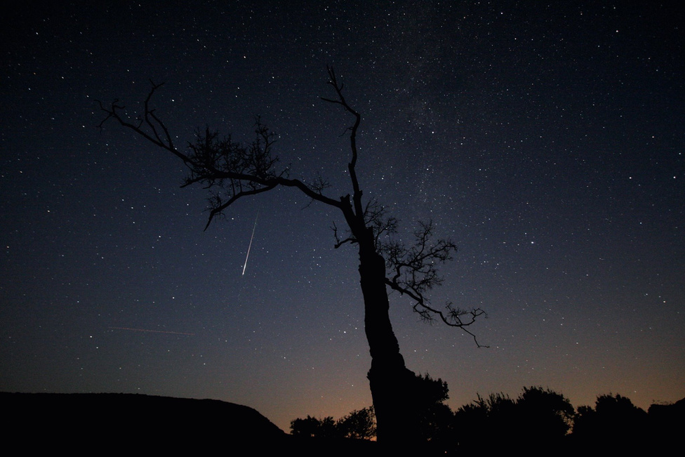 Augusztus 12. Egy Perszeida meteor a pilisszentléleki pálos kolostor romoknál.