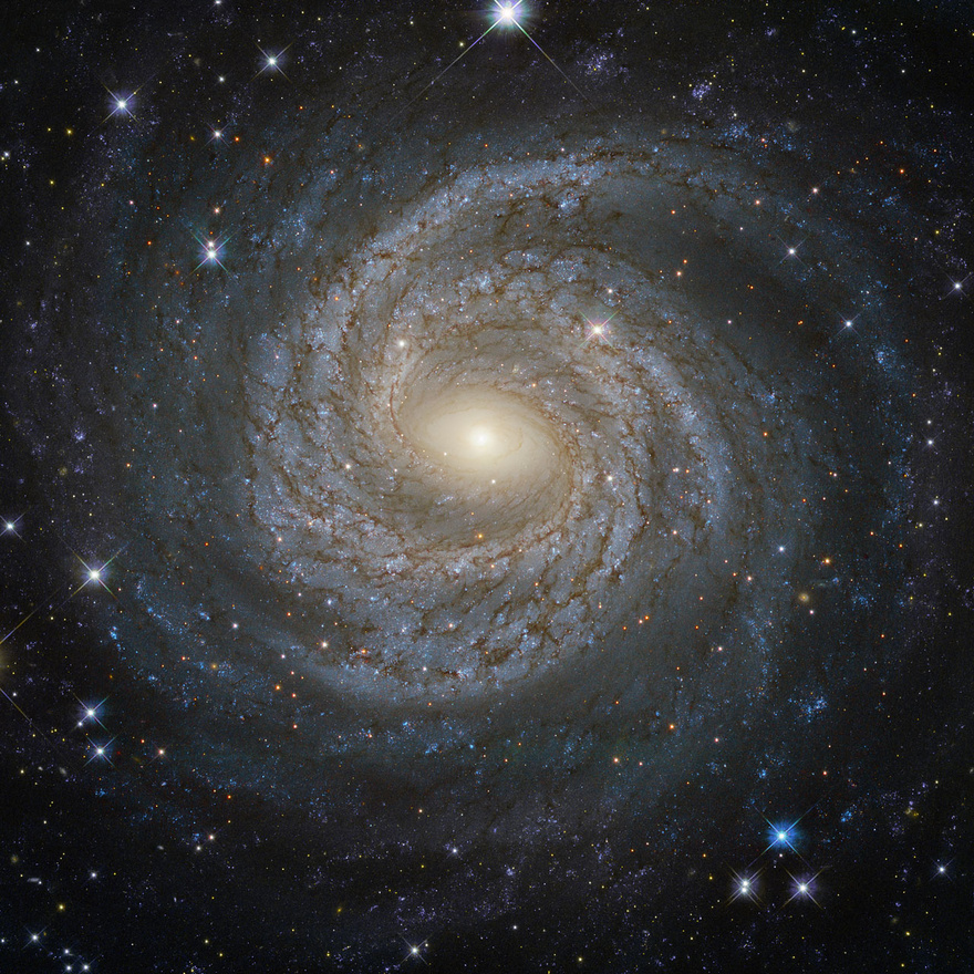 A rendkívül aktív NGC 6814 galaxis Hubble-portréja.