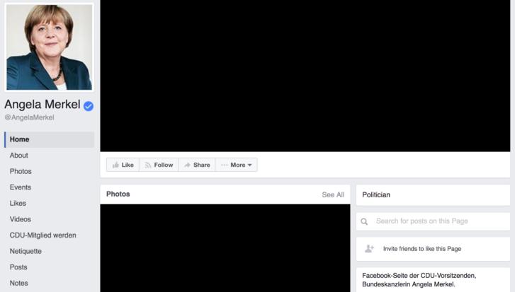 Angela Merkel Facebook-oldala a támadás másnapján