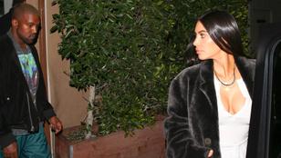 Kim Kardashian Kanye Westtel romantikázott