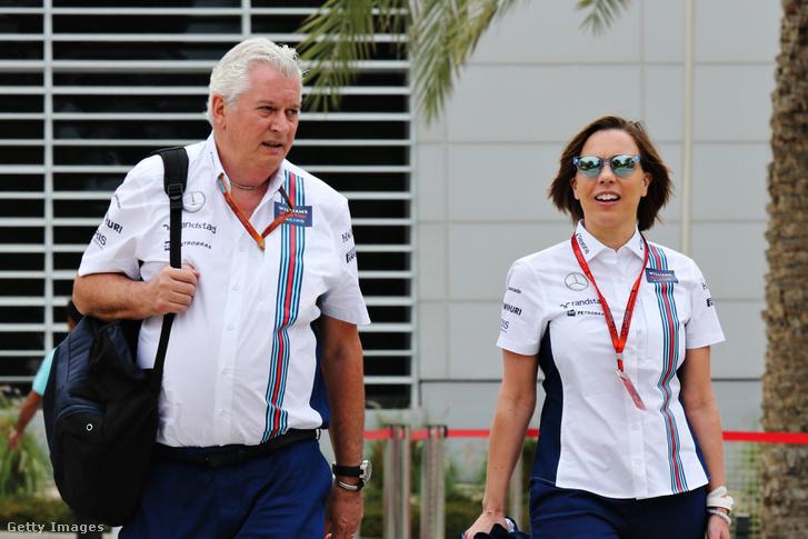 Pat Symonds és a csapatvezető, Claire Williams