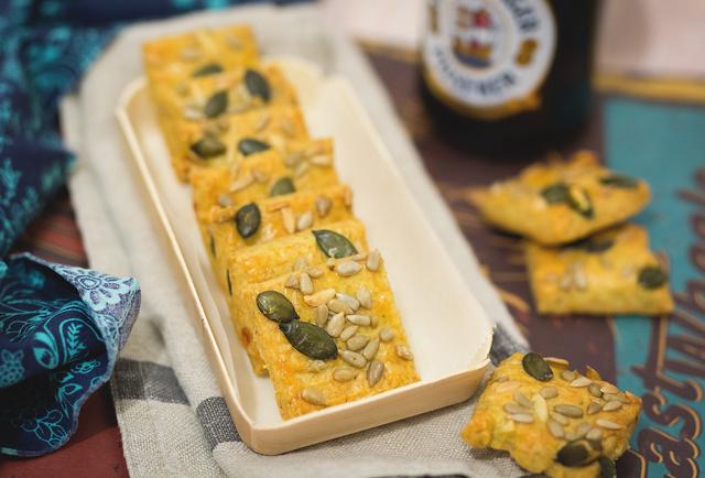 pesztós sajtkockák
