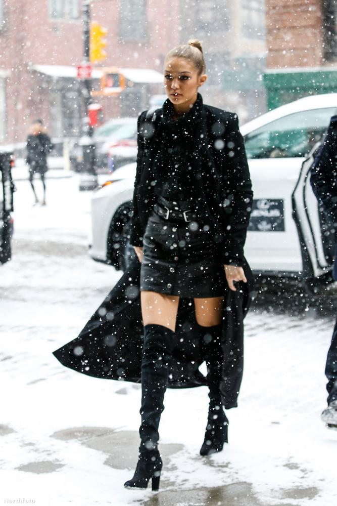 Kolléganője és honfitársa, a hóvihart a lábaival legyűrő Gigi Hadid sem volt mindig ennyire felöltözve