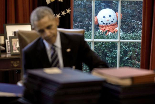 obama-snowman